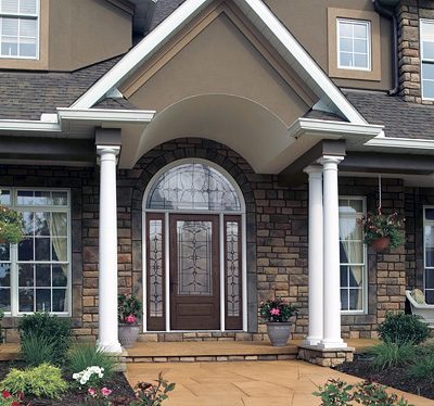 Designing your front entryway the house designers for Outside foyer designs