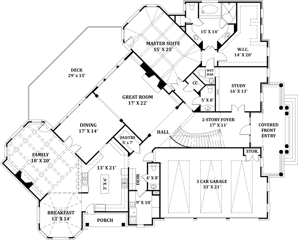 Delano 8229 4 Bedrooms And 4 Baths The House Designers