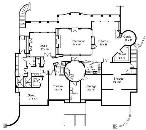 ramboulett 6020 5 bedrooms and 5 baths the house designers