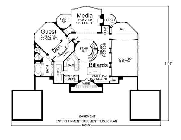 Villa capri 6018 3 bedrooms and 3 5 baths the house for Home plans for entertaining