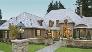 Country french house plans euro style home designs by thd for House plans for golf course lots