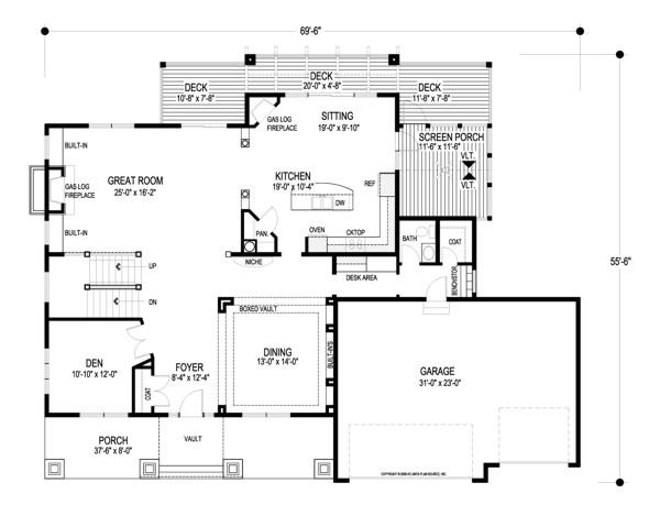 Kensington 8993 4 bedrooms and 3 baths the house designers for Kensington house plan