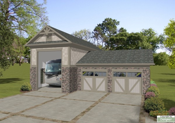 Rv garage 3070 the house designers for Rv garage plans and designs