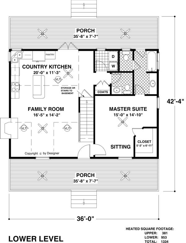 The mountain view 6619 3 bedrooms and 2 baths the for Mountain view floor plans