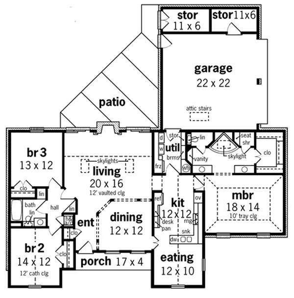 Texas House Plans Over 700 Proven Home Designs: Willow Oaks - 1830 1155 - 3 Bedrooms And 2.5 Baths