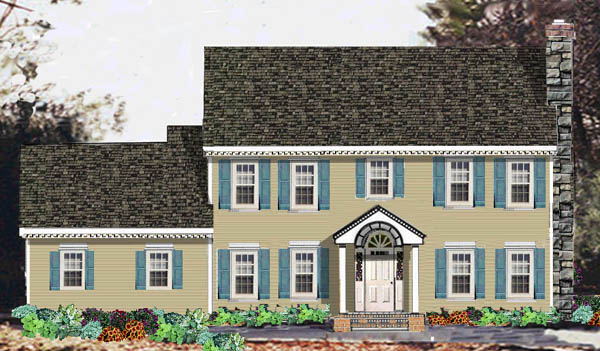 Stately colonial 5686 5 bedrooms and 2 baths the house for Stately house plans