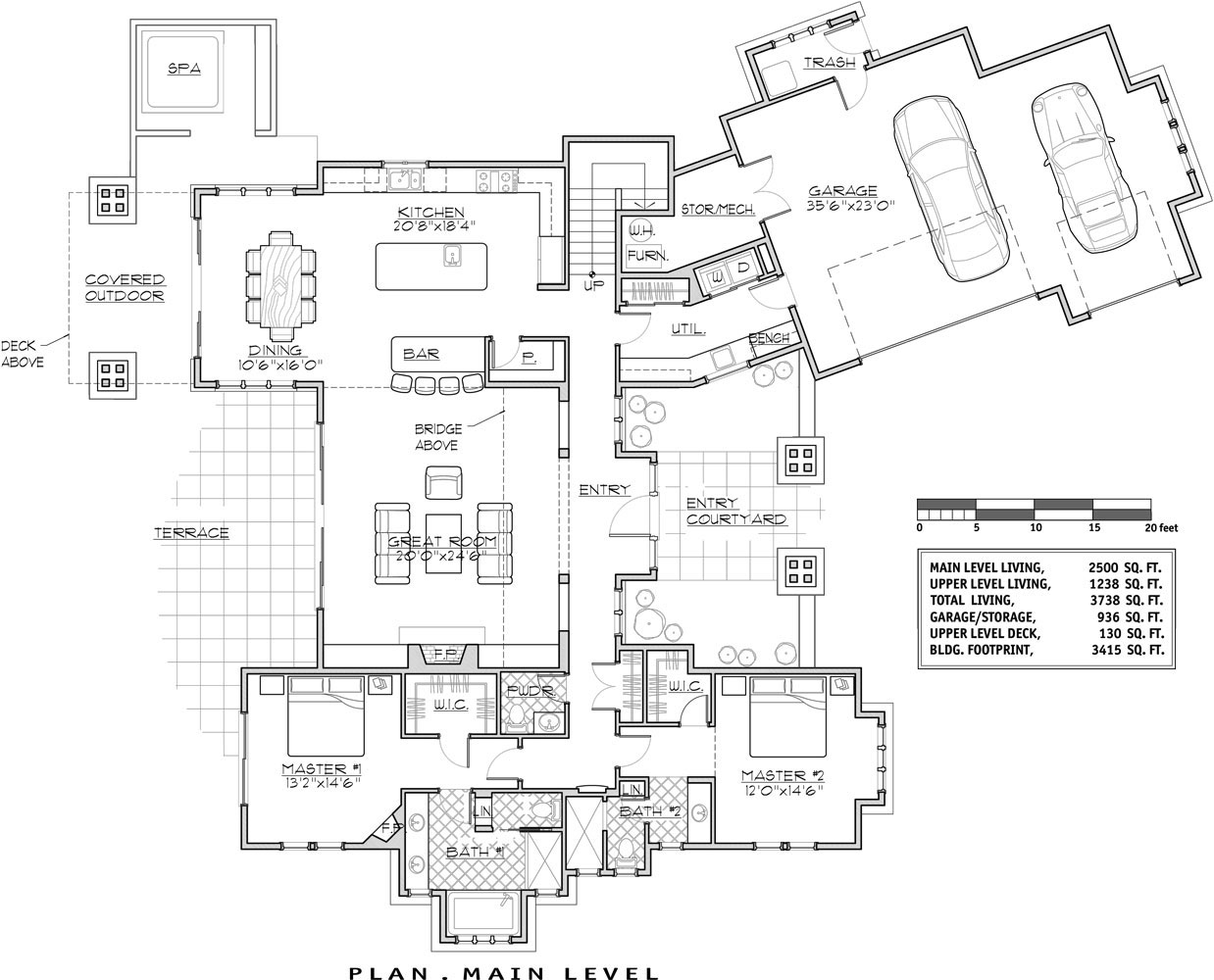 Diamond lake house plan weber design group inc lake house for Lake house floor plan
