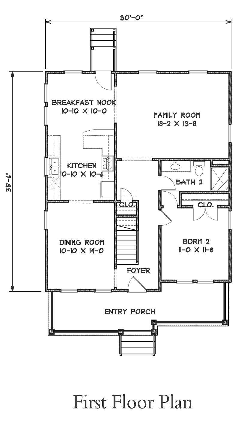 Arts craft cottage 9302 4 bedrooms and 3 5 baths the for Arts and craft house plans