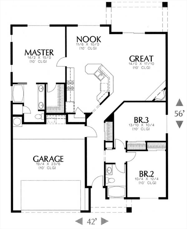 1120 6472 3 bedrooms the house designers for 1120 westchester place floor plan