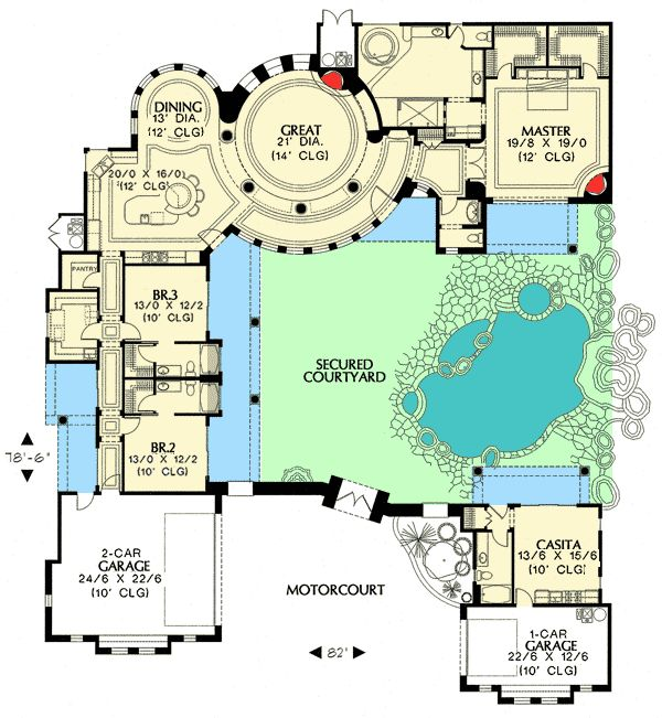 1352 1250 4 Bedrooms And 4 Baths The House Designers