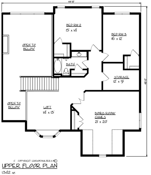 The wexford 1691 4 bedrooms and 2 baths the house for Copying house plans