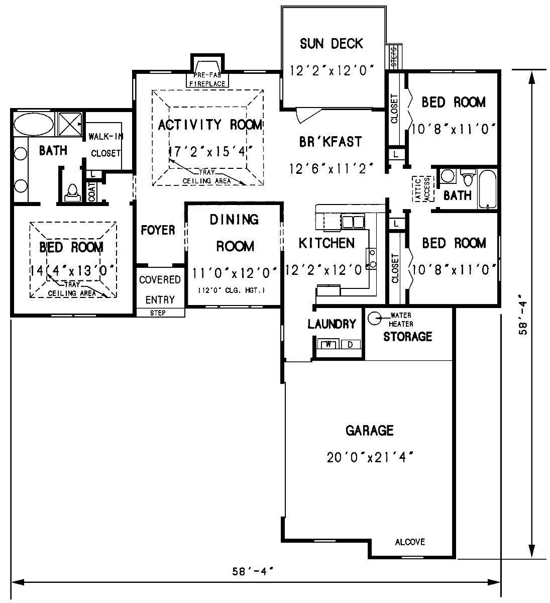 The valdosta 3297 3 bedrooms and 2 5 baths the house designers - Design basics house plans set ...
